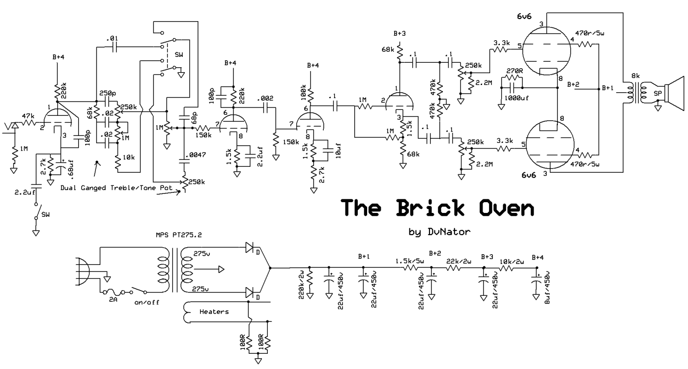 The Brick Oven Dvnators Amp Projects Train Schematics Note If You Are Looking For Night Schematic This Is Not It Ive Made Many Changes