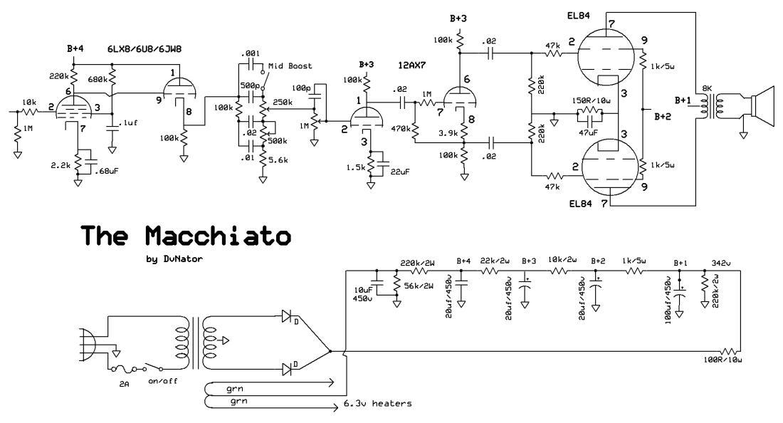 el84 guitar amp schematic wiring diagram & electricity basics 101 \u2022 baby huey el84 schematic el84 push pull amps dvnator s amp projects rh chasingtone com el84 guitar amplifier schematic el84 guitar tube amp schematic