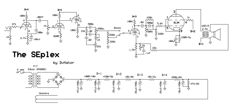 Single Ended El34 Guitar Amp Schematic Wiring Diagrams