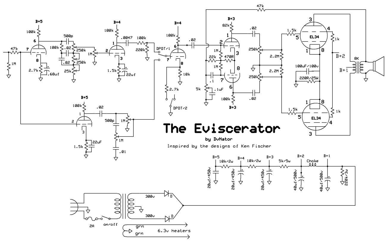 the eviscerator dvnator 39 s amp projects. Black Bedroom Furniture Sets. Home Design Ideas