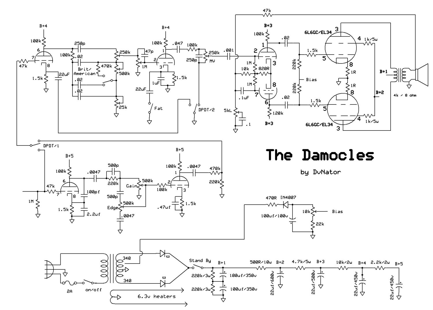 [SCHEMATICS_48EU]  Damocles – Chasing Tone | Dumble Schematic |  | DvNator's Tube Amp Projects